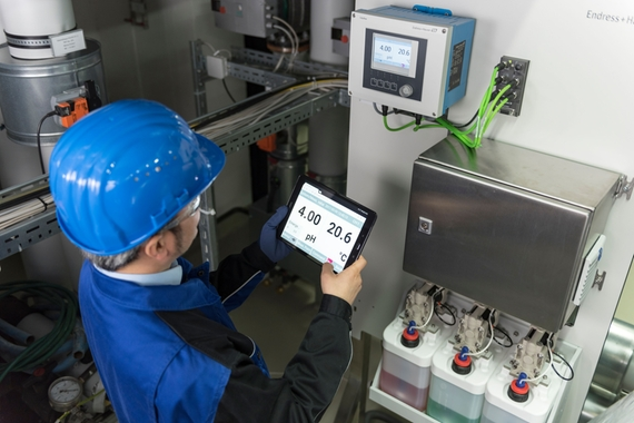 Automate pH measurements in flue gas desulfurization (FGD) by Endress+Hauser