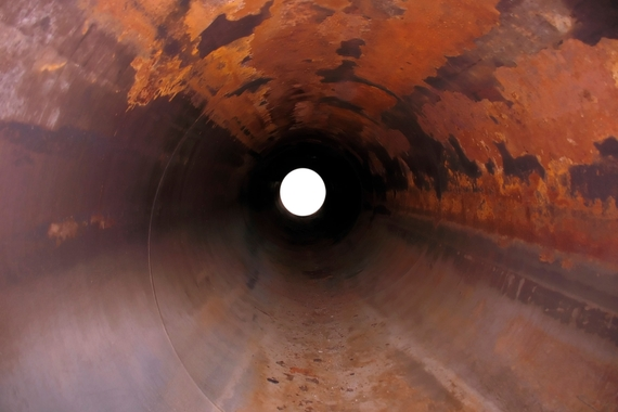 corrosion in a natural gas pipeline