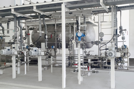Endress+Hauser chemical injection skid
